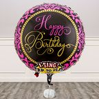Vorschaubild Singender Ballon Happy Birthday Glamour