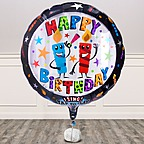 Vorschaubild Singender Ballon Happy Birthday Kerzen