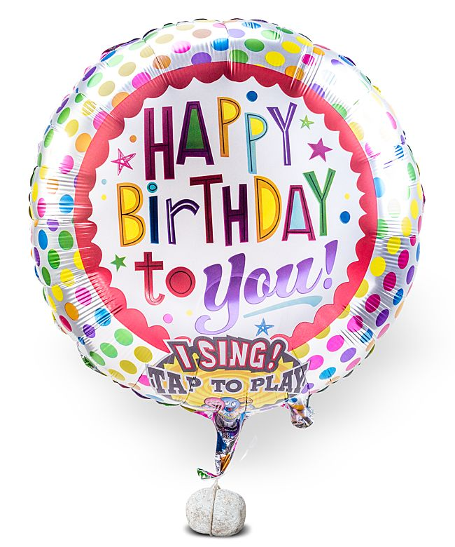 Singender Ballon Happy Birthday to You! - jetzt bestellen bei Valentins