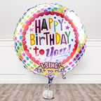 Vorschaubild Singender Ballon Happy Birthday to You! und Kessler Rose Sekt